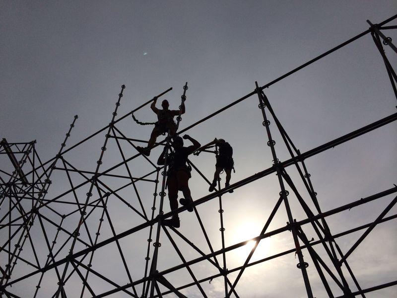 Opbouw en afbouw werkzaamheden